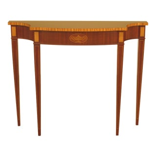Councill Craftsmen Federal Style Inlaid Mahogany Console Table