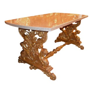 19th C. English Giltwood Table For Sale