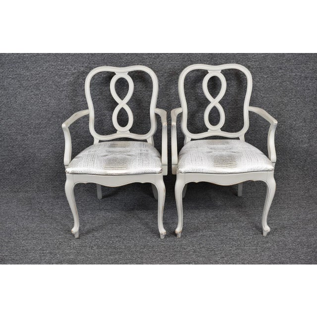 French Country Set of Four French Country Louis XV Style Dining Chairs For Sale - Image 3 of 11