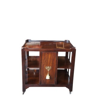 20th Century Chippendale Asian Mahogany Tiered Etagere Bookcase/End Table For Sale