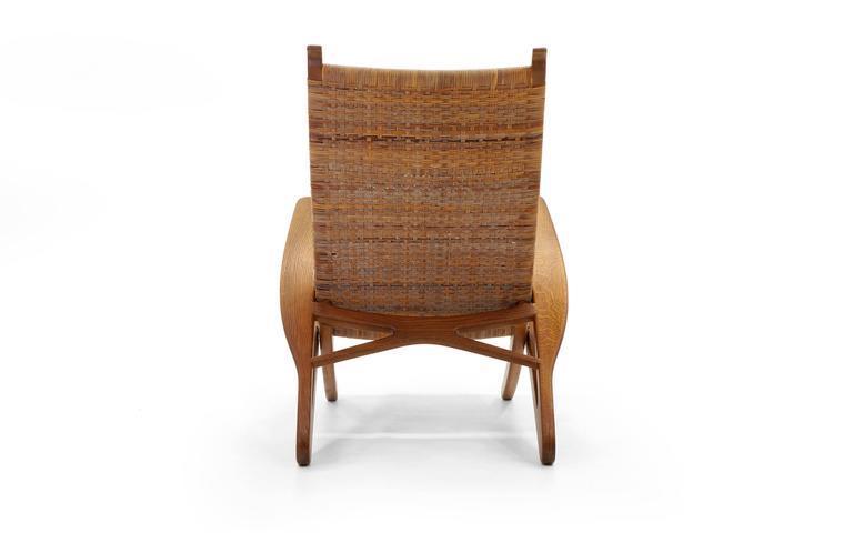 Rare Hans Wegner Dolphin Folding Lounge Chair Johannes Hansen, Denmark,  1950   Image 3