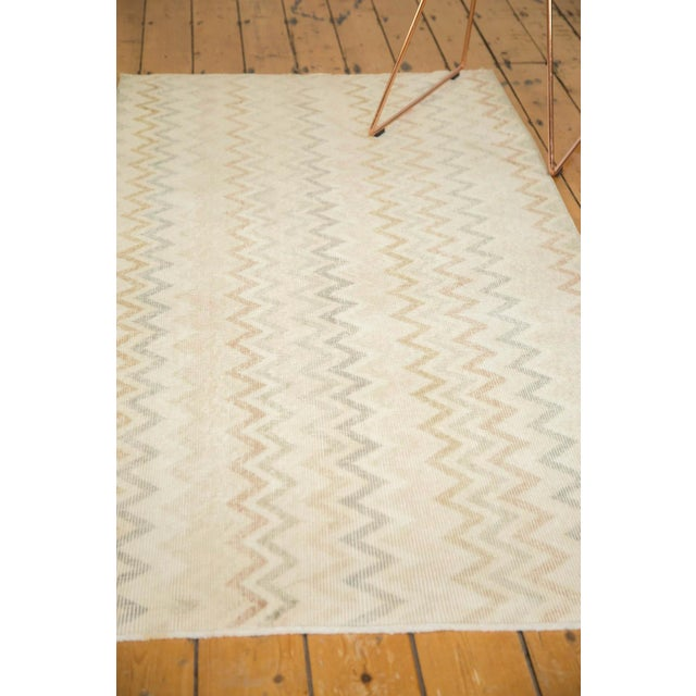 "Vintage Distressed Oushak Rug Runner - 3'4"" x 6'9"" - Image 9 of 9"