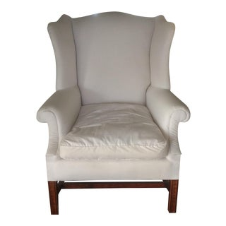 Early 20th Century American Wing Chair in White
