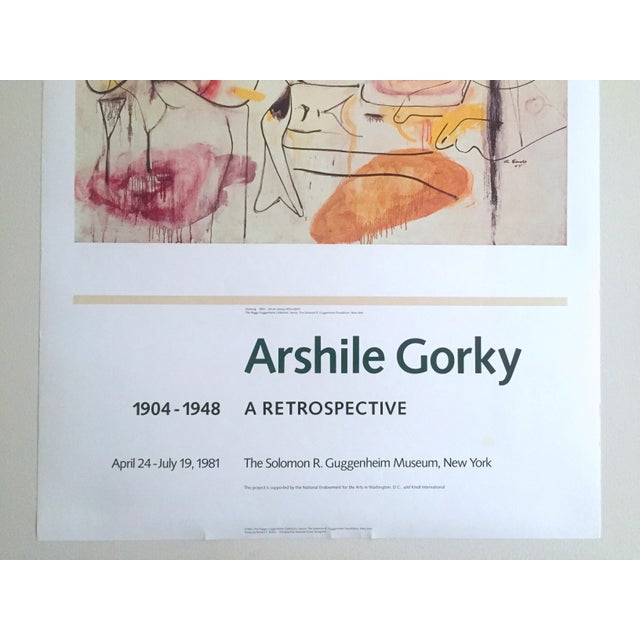 Vintage 1981 Arshile Gorky Original Abstract Lithograph Print Exhibition Poster - Image 5 of 9
