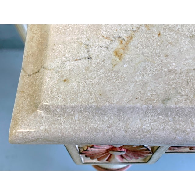Hollywood Regency 20th Century Hollywood Regency Marble Top Console Table For Sale - Image 3 of 11
