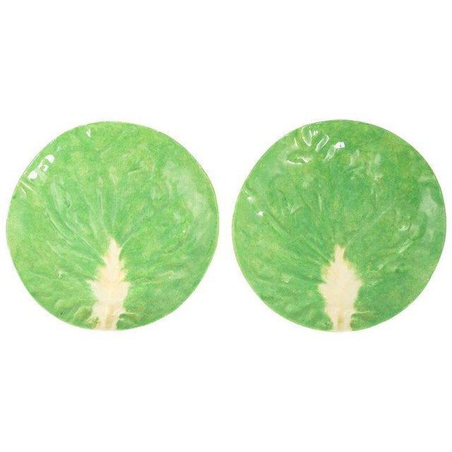 Dodie Thayer Lettuce Side Plates - a Pair For Sale - Image 11 of 11