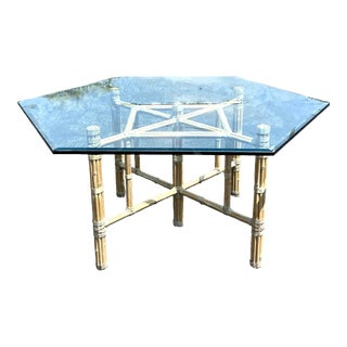 Vintage McGuire Bamboo Dining Table For Sale