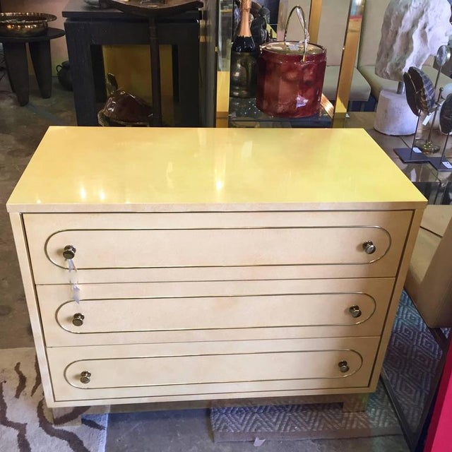 Mid-Century Modern Pair of Romweber Chest of Drawers For Sale - Image 3 of 11