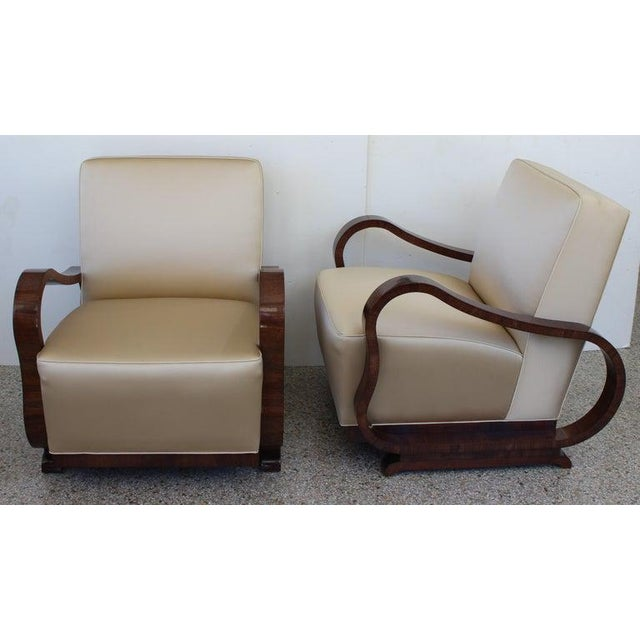 Art Deco Art Deco 1930s Jindřich Halabala Style Lounge Chairs - a Pair For Sale - Image 3 of 13