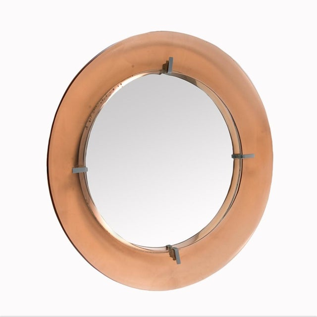 Crystal Arte Cristal Art Circular Mirror For Sale - Image 4 of 4