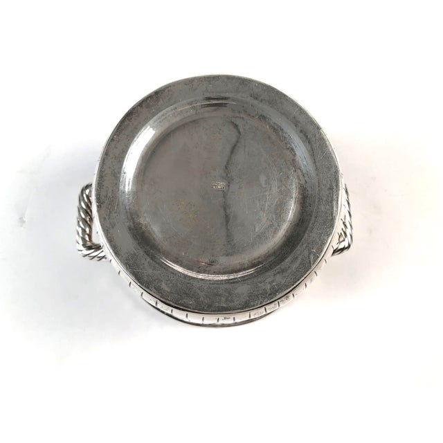 Metal Sanborns Mexican Sterling Silver Ice Bucket With Tongs and Tray For Sale - Image 7 of 13