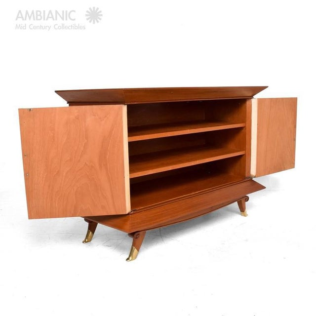 Mid-Century Modern Mexican Modernist Cabinet With Parchment Doors For Sale - Image 3 of 10