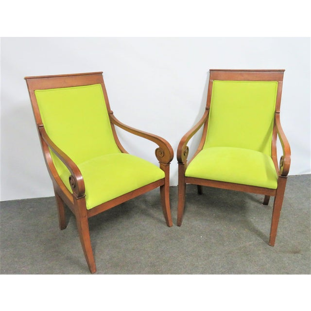Ethan Allen Regency Style Chairs- a Pair For Sale In Philadelphia - Image 6 of 11