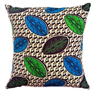 Coffee Bean African Wax Print Pillows - a Pair