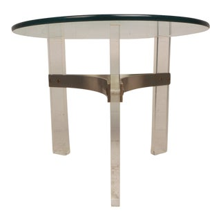 Mid-Century Modern Lucite End Table