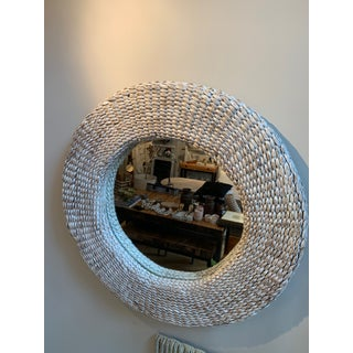 Rattan White Washed Round Wall Mirror Preview