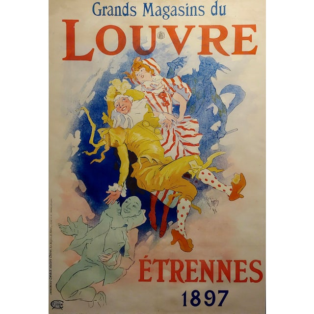 Grands Magasins Du Louvre -Original 1897 French Poster by Jules Cheret For Sale - Image 4 of 11