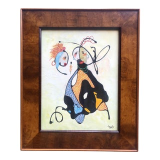Original Abstract Framed Oil Painting by Clemente Mimun For Sale