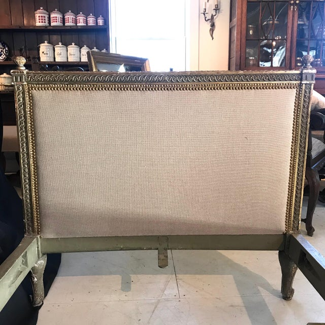 Mid 19th Century 19th Century Louis XV Gray and Gilded Twin Bedframe For Sale - Image 5 of 13