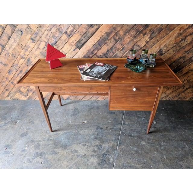 Brown Mid Century Drexel Declaration Desk by Kipp Stewart For Sale - Image 8 of 11