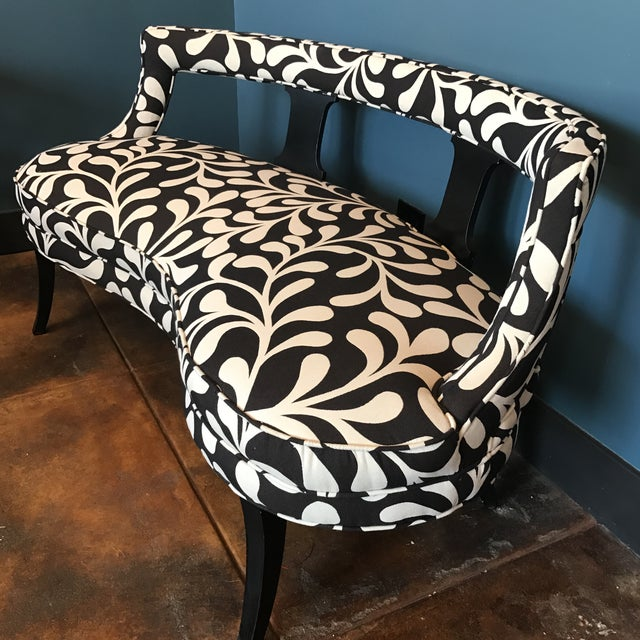 Black & White Botanical Loveseat - Image 5 of 8