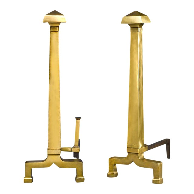 Large Pair Of Andirons For Sale