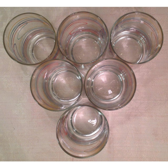 Mid-Century Modern Multicolored Glasses - Set of 6 For Sale In Dallas - Image 6 of 8