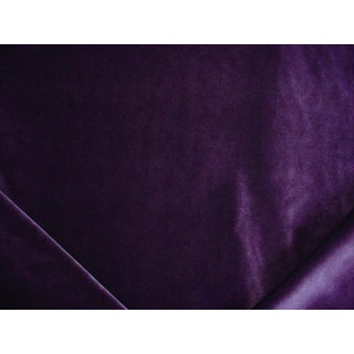 Traditional Zoffany Veda Plum Purple Velvet Drapery Upholstery Fabric - 4-3/8y For Sale
