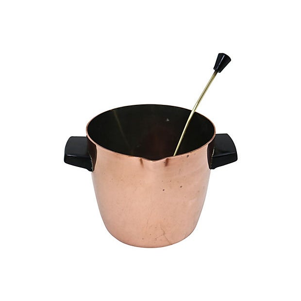 Farmhouse English Copper Ice Bucket & Ladle, 2 Pieces For Sale - Image 3 of 4