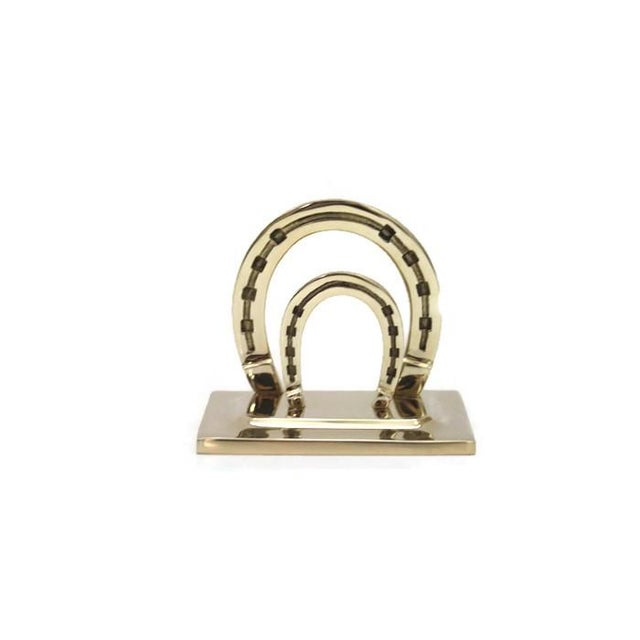 Lucky Horseshoe Brass Mail Holder - Image 1 of 2