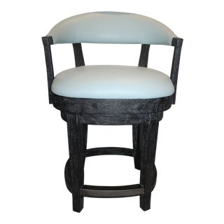Modern Palecek Swivel Counterstool For Sale