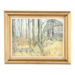1970s Vintage Country Side Landscape Painting For Sale