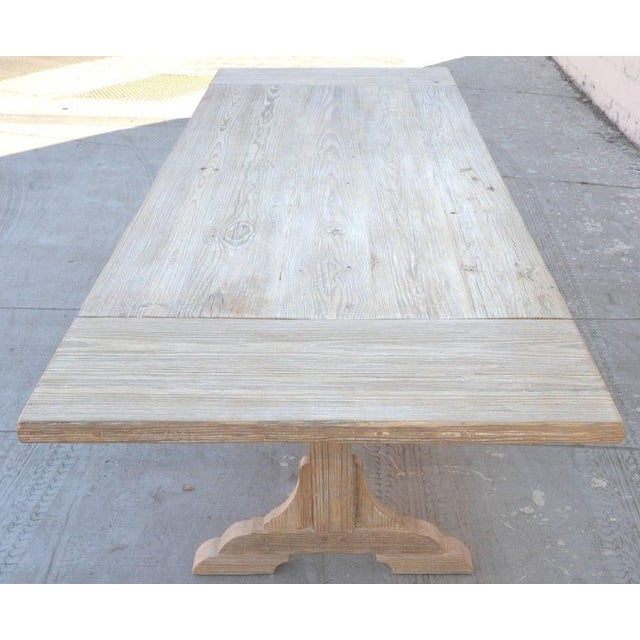 Wood Petersen Antiques Heart Pine Expandable Farm Table For Sale - Image 7 of 11