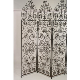 1960s Iron Scrolled Folding Screen Preview