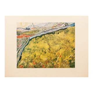 """1950s Van Gogh, First Edition Lithograph """"The Wheat Field"""" For Sale"""