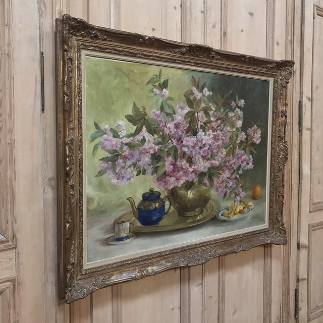 Realism Russian Framed Oil Painting on Canvas For Sale - Image 3 of 11