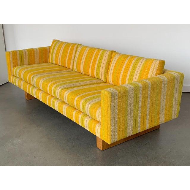Yellow Harvey Probber Tuxedo Sofa With Oak Legs For Sale - Image 8 of 13