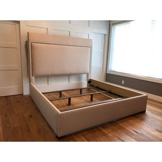 Contemporary Vanguard Furniture King Sized Upholstered Bed Preview
