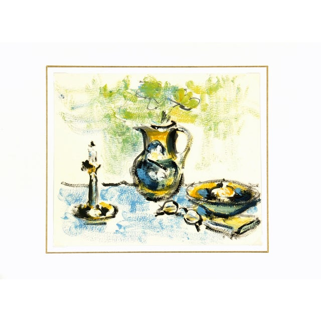 1960 Vintage French Still Life Study Painting - Image 3 of 3