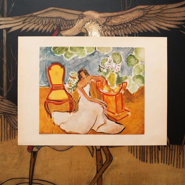 """Expressionism 1946 Henri Matisse Original """"Girl in the White Dress"""" Parisian Period Lithograph For Sale - Image 3 of 8"""