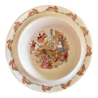 Easter Bunnies Royal Doulton Bone China Bowl For Sale