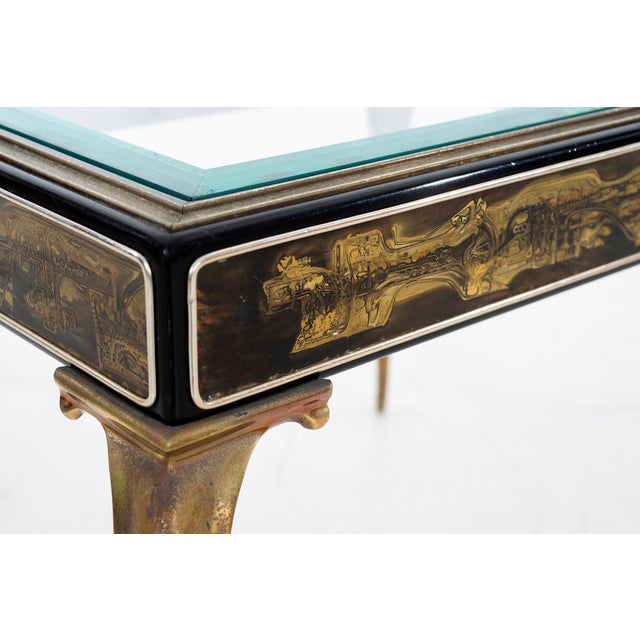 Brass Bernhard Rohne for Mastercraft Side Table For Sale - Image 7 of 9