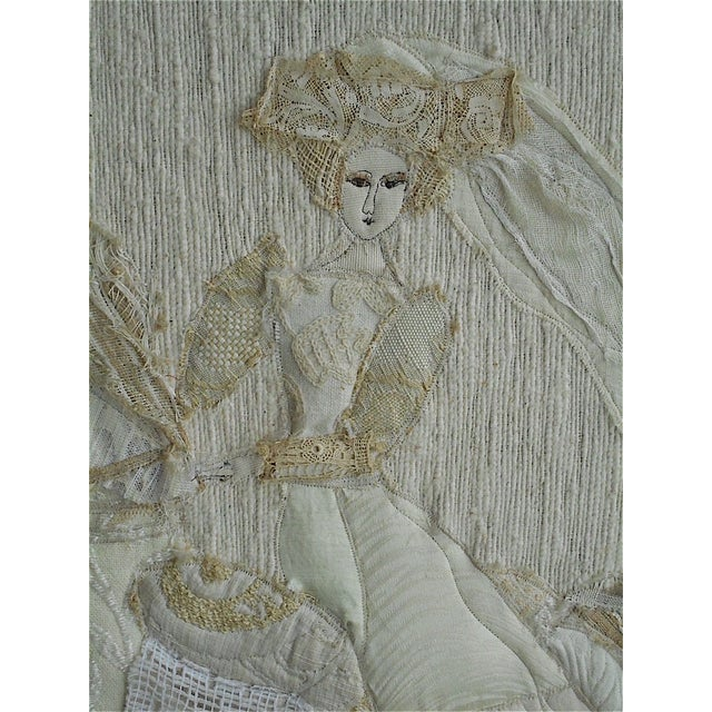 """""""The Run-Away Bride"""" Mixed Media Collage - Image 3 of 9"""