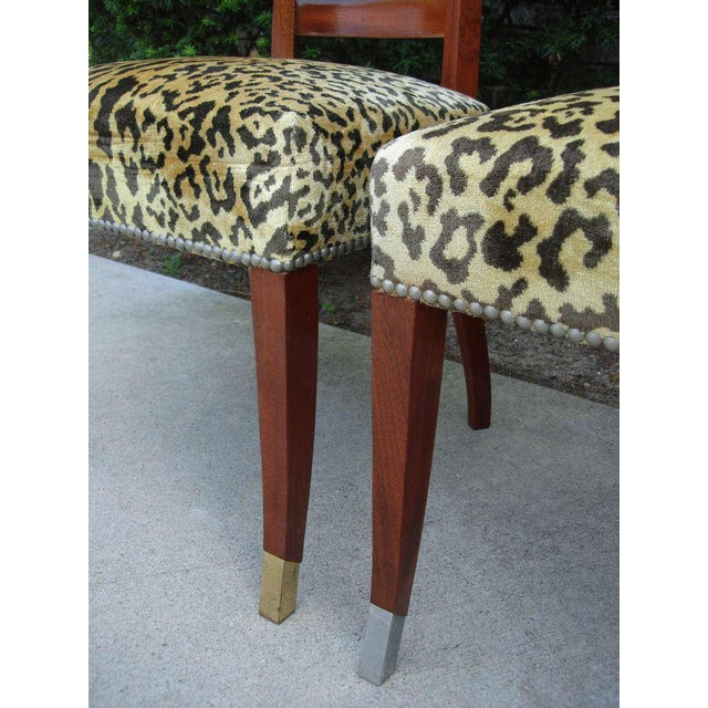 Set of Six French Art Deco Chairs in the Manner of Jean Pascaud For Sale In Miami - Image 6 of 7