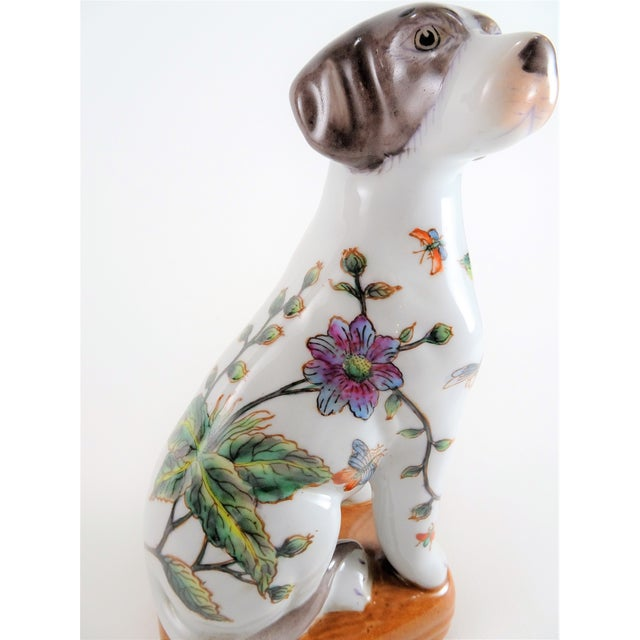 Chinoserie Porcelain Dog Statue For Sale - Image 11 of 12