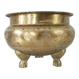Image of Vintage Chinoiserie Brass Planter For Sale
