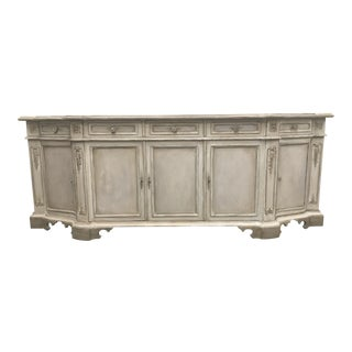 Italian Painted Credenza Sideboard For Sale