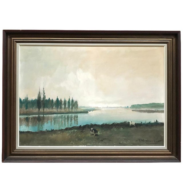 Antique Framed Oil Painting on Canvas by Pauwels For Sale - Image 12 of 12