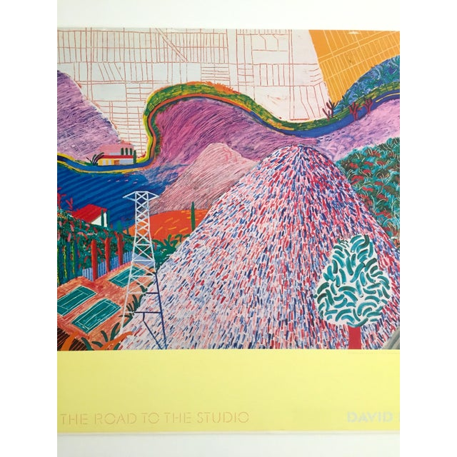 "Boho Chic Rare 1980 David Hockney Original Collotype Print Poster "" Mulholland Drive "" For Sale - Image 3 of 11"