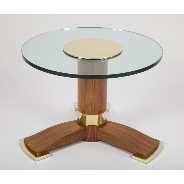 Jules Leleu Mahogany, Bronze and Glass Coffee Table For Sale - Image 13 of 13